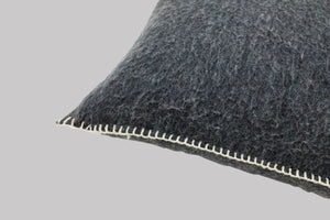 Recycled Wool Square Cushion - Carbon