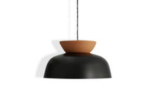 Load image into Gallery viewer, Ceramic Hat Pendant - Raw Terracotta/Black
