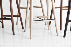 Dowel Stool by Mr Frag - Ash/Brass
