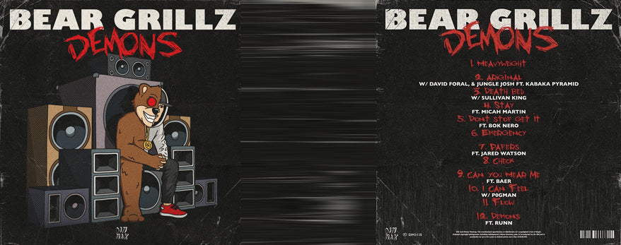 BEAR GRILLZ RELEASES 'DEMONS'  - PRODUCED BY DAVID FORAL & JUNGLE JOSH