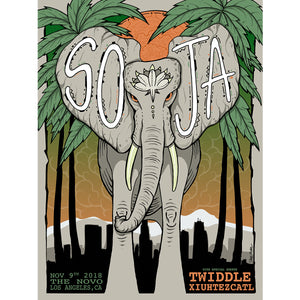 SOJA 2018 LOS ANGELES, CA CONCERT POSTER [Limited Edition] *SIGNED*