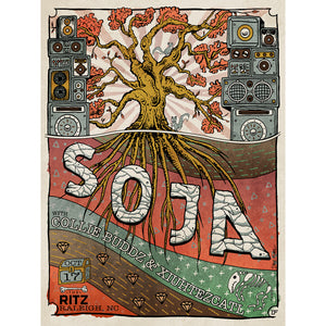 SOJA 2018 RALEIGH, NC CONCERT POSTER [Limited Edition] *SIGNED*