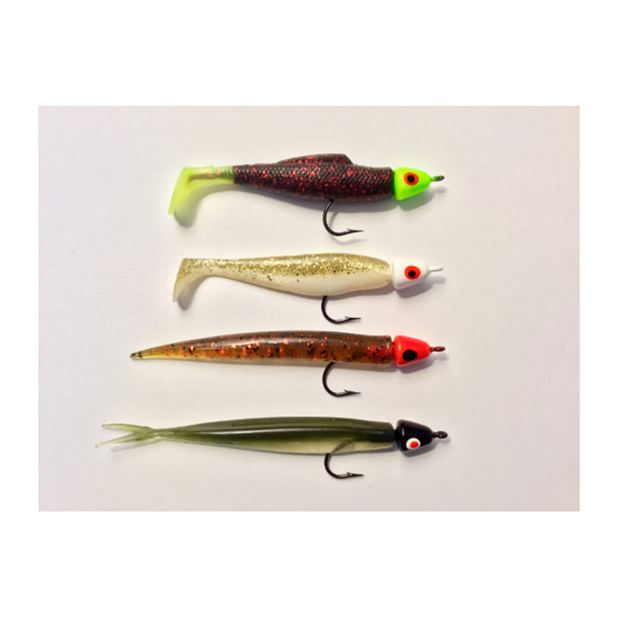 Foam Minnow Red 5pk