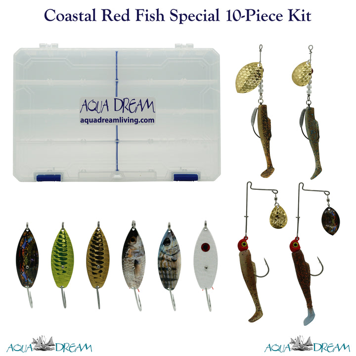 Coastal Redfish Special 10pc Lure Kit