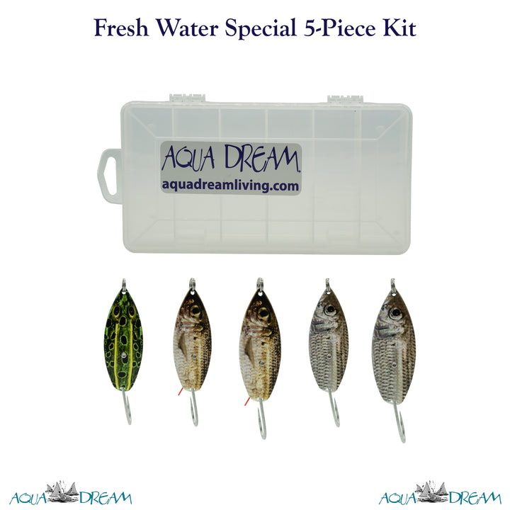 Fresh Water Special 5pc Weedless Spoon Kit