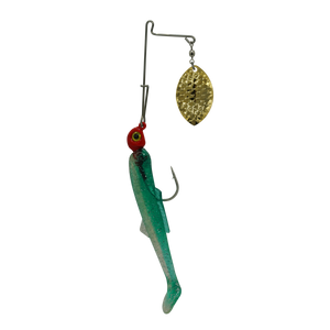 Cajun Slam Gold #5 Mag Willow/4-inch Green-Silver Tail