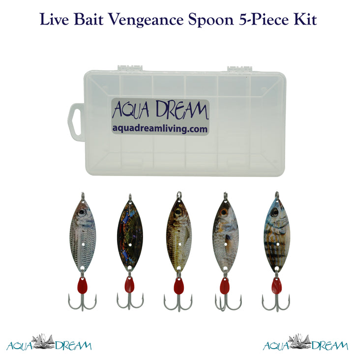 Live Bait Vengeance 5pc Spoon Kit