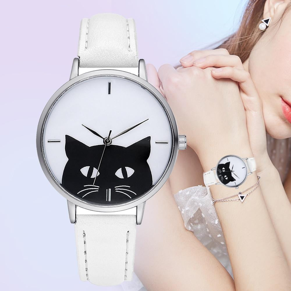 Wonderful Cat Face Watch