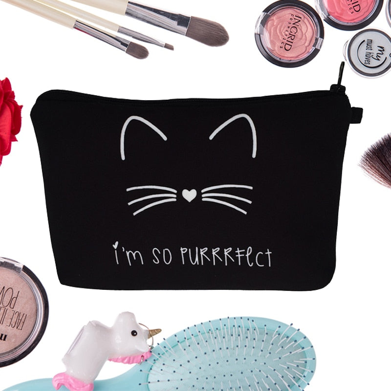Purrrfect Cosmetic Bag