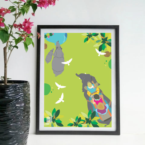 Wildlife Kaziranga Safari - Print Only - NEST by Arpit Agarwal