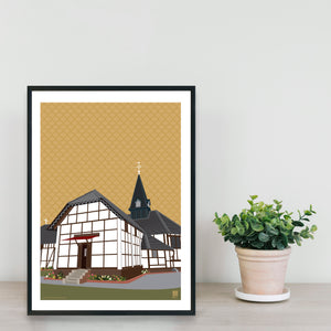 All Saints' Cathedral of Shillong - Print Only - NEST by Arpit Agarwal