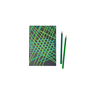 Parakeet Green Random Weave Notebook - NEST by Arpit Agarwal