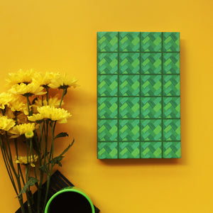 Forest Green Bamboo Mat Checks Notebook - NEST by Arpit Agarwal