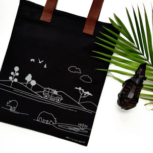 Rhino inspired Carry Everywhere Tote - Grey - NEST by Arpit Agarwal