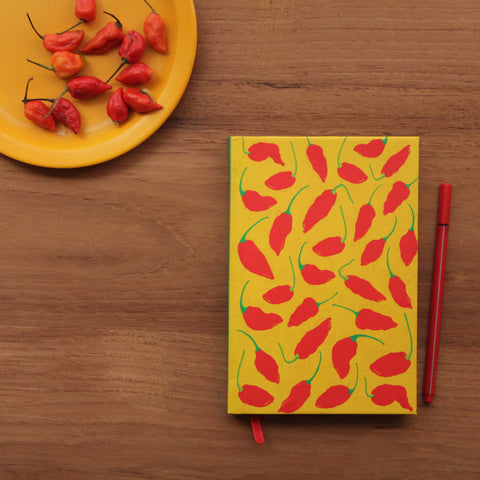 Red Hot Bhut Jolokia Notebook - NEST by Arpit Agarwal