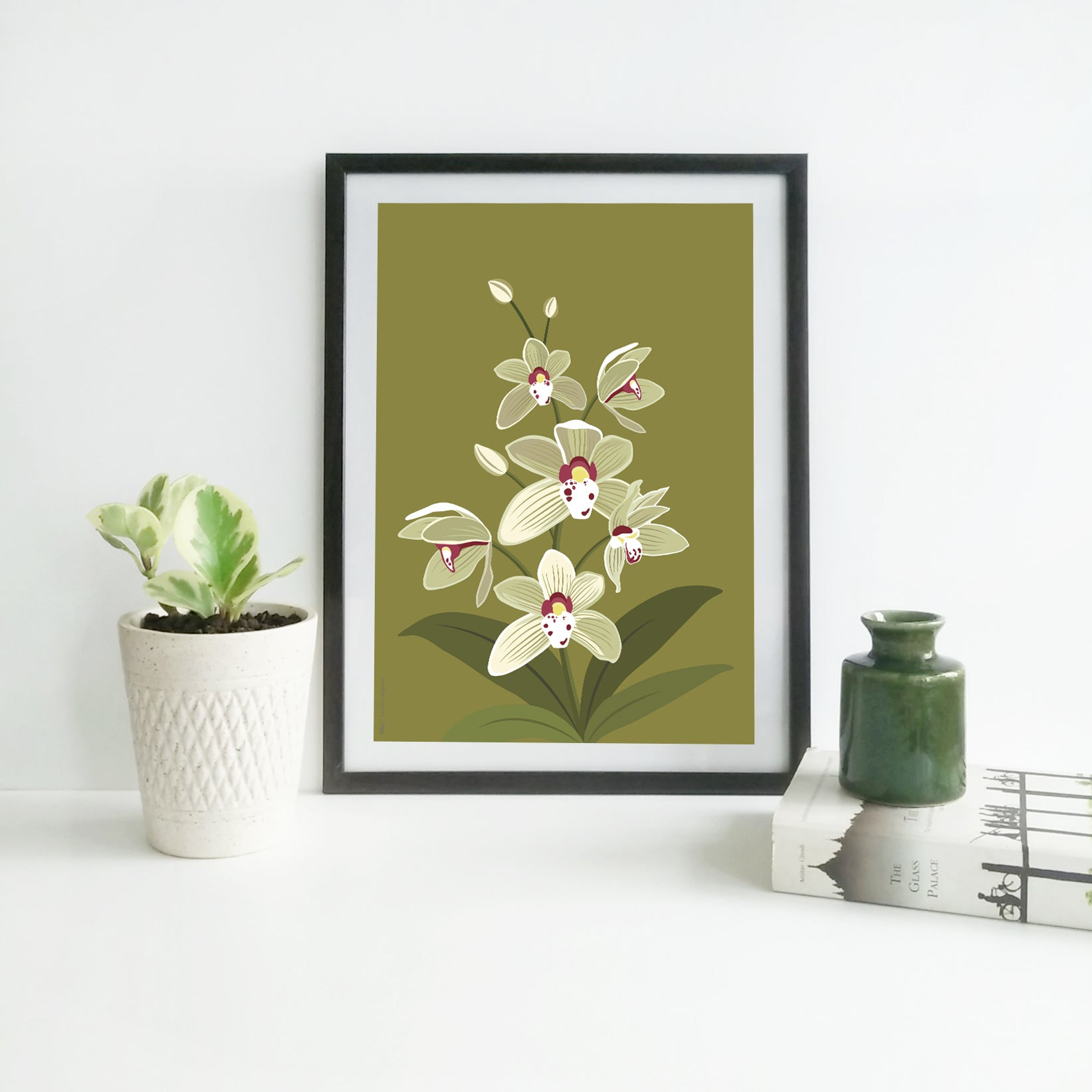 Cymbidium Alison - Print Only - NEST by Arpit Agarwal