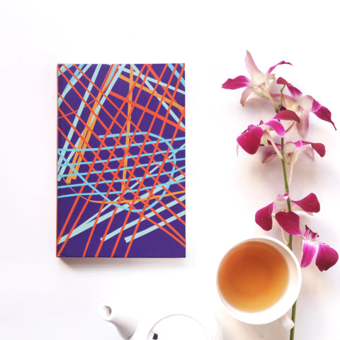 Violet Random Weave Notebook - NEST by Arpit Agarwal