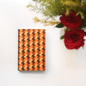 Rust Brown Bamboo Mat Pattern Notebook - NEST by Arpit Agarwal