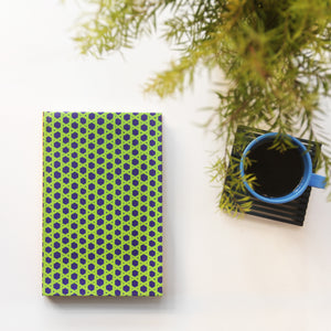 Lime Green Jaapi Weave Notebook - NEST by Arpit Agarwal