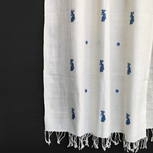 Raw White Bihu Stole