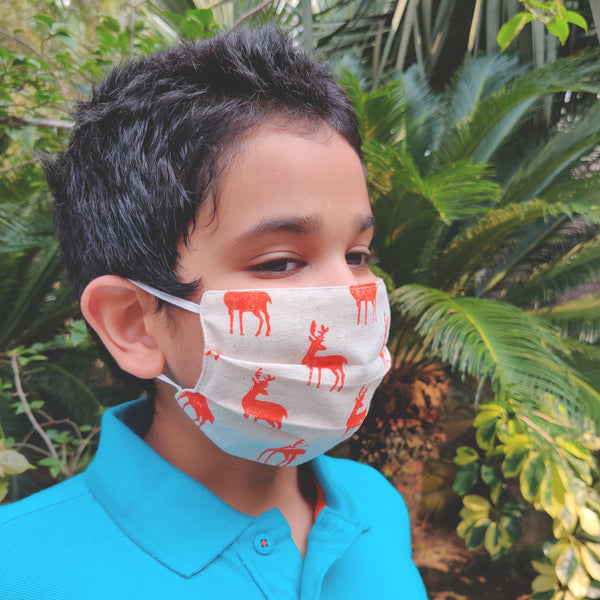 NorthEast Inspired Cotton Masks for Kids - Set of Four - NEST by Arpit Agarwal