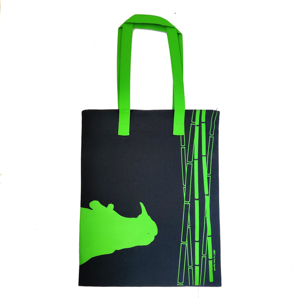 Rhino Inspired Carry Everywhere Tote - Navy - NEST by Arpit Agarwal