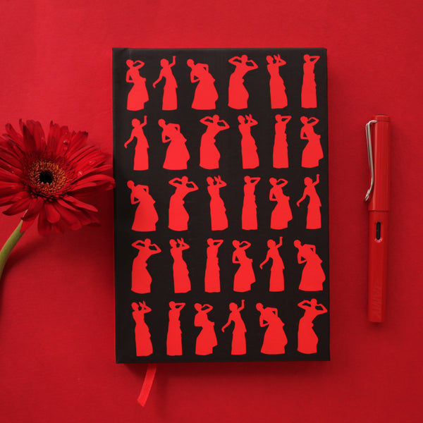 Scarlet Red Bihu Dance of Assam Notebook - NEST by Arpit Agarwal