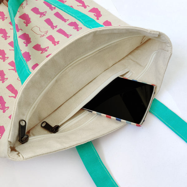 Bihu Inspired Carry Everywhere Tote - Natural - NEST by Arpit Agarwal