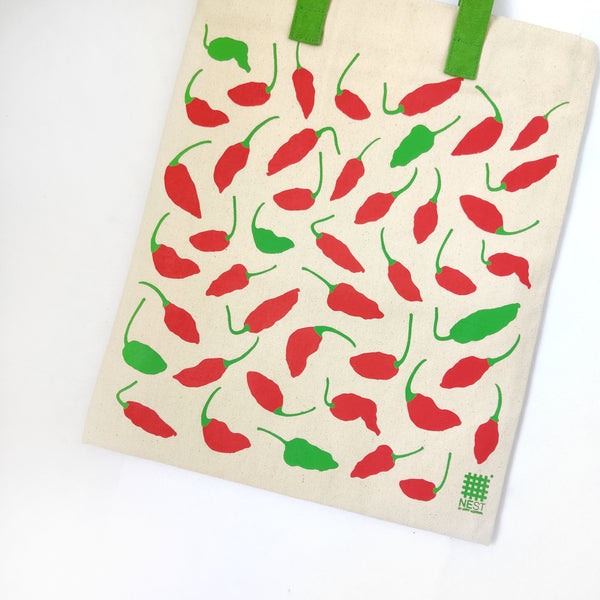 Ghost Chilli Inspired Carry Everywhere Tote - Natural - NEST by Arpit Agarwal