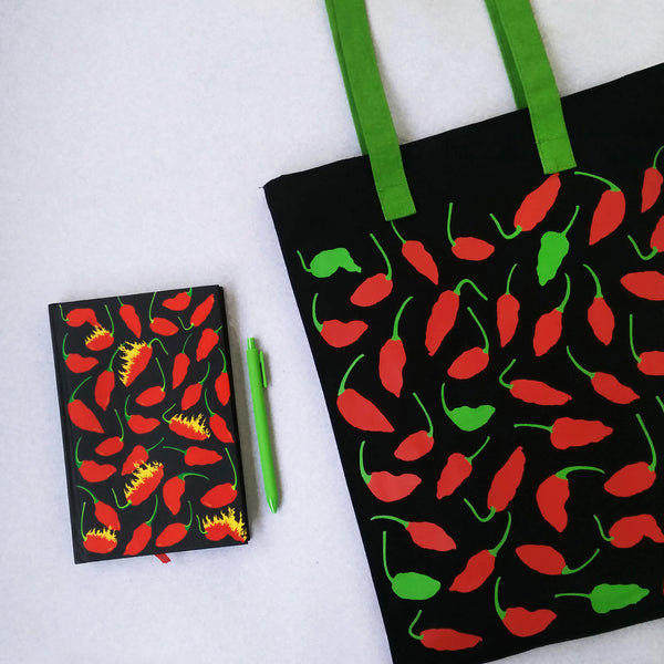 Ghost Chilli Inspired Carry Everywhere Tote - Black - NEST by Arpit Agarwal