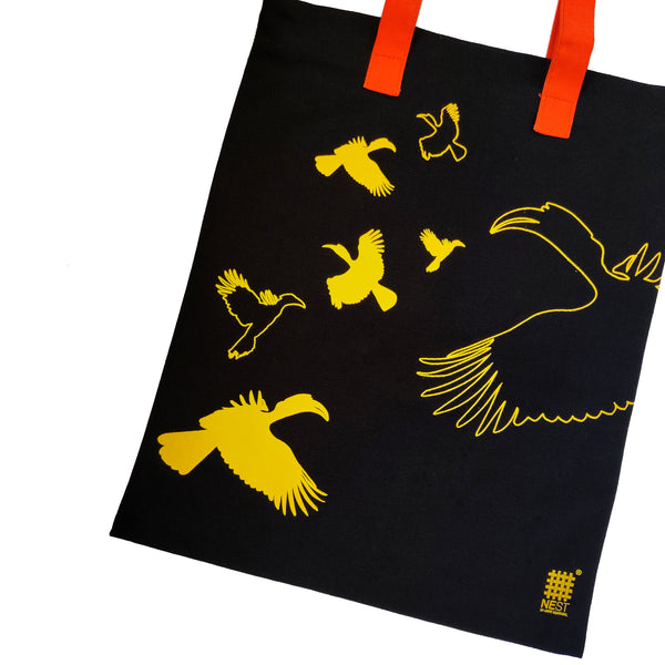 Hornbill Inspired Carry Everywhere Tote - Black - NEST by Arpit Agarwal