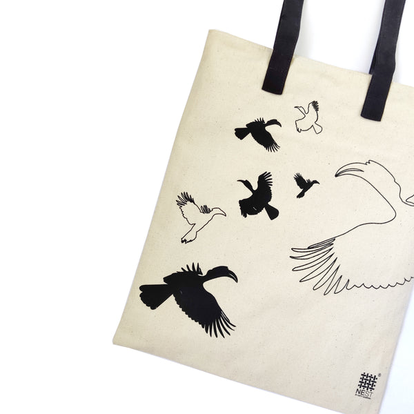 Hornbill Inspired Carry Everywhere Tote - Natural - NEST by Arpit Agarwal