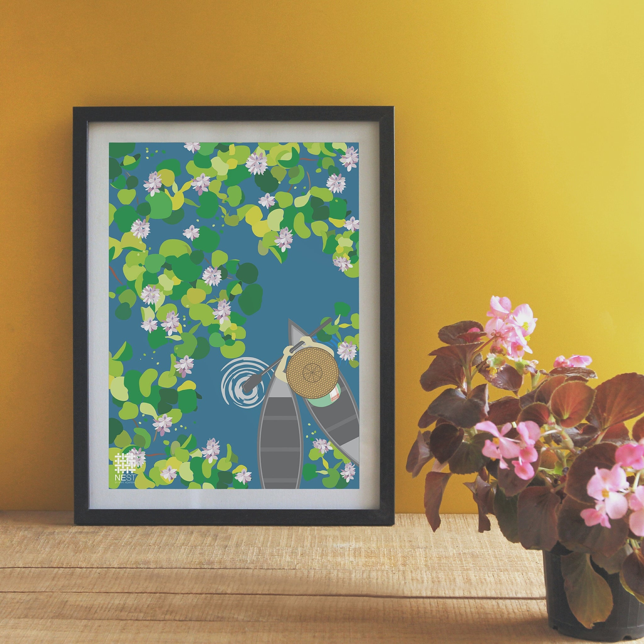 Water Hyacinth - Print Only - NEST by Arpit Agarwal
