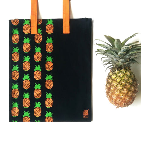 Pineapple Inspired Carry Everywhere Tote - Navy - NEST by Arpit Agarwal