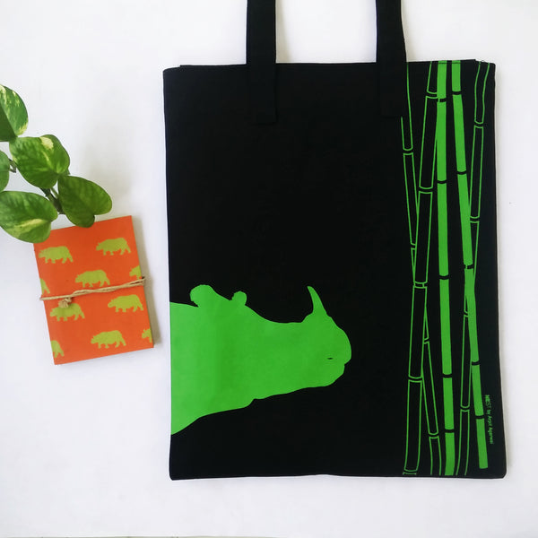 Rhino inspired Carry Everywhere Tote - Black - NEST by Arpit Agarwal