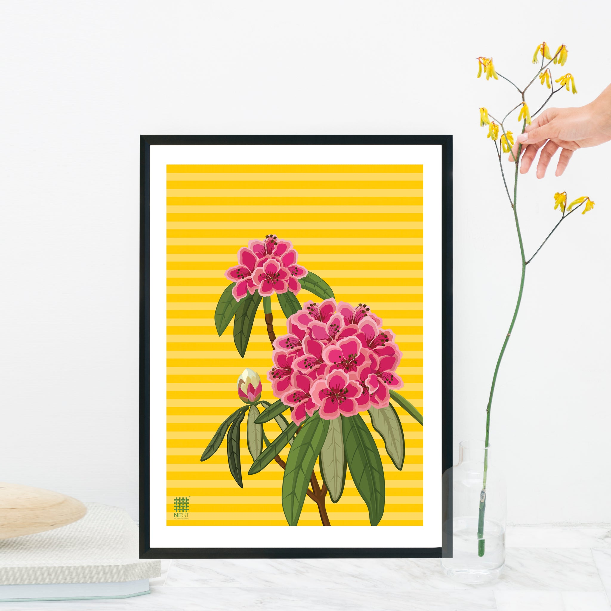 Rhododendron Yellow - Print Only - NEST by Arpit Agarwal