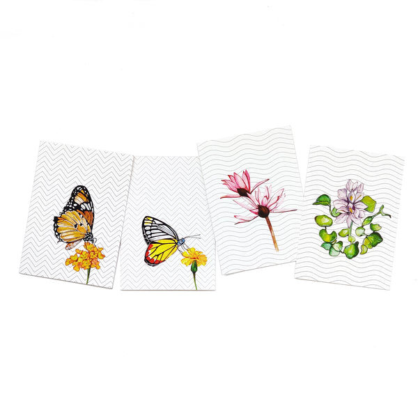 Water Colour Collection Greeting Cards - Set of 4