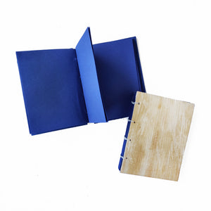 Tamul Natural Cover Plain Notebook - Navy Blue