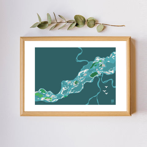 The Mighty Brahmaputra - Print Only - NEST by Arpit Agarwal