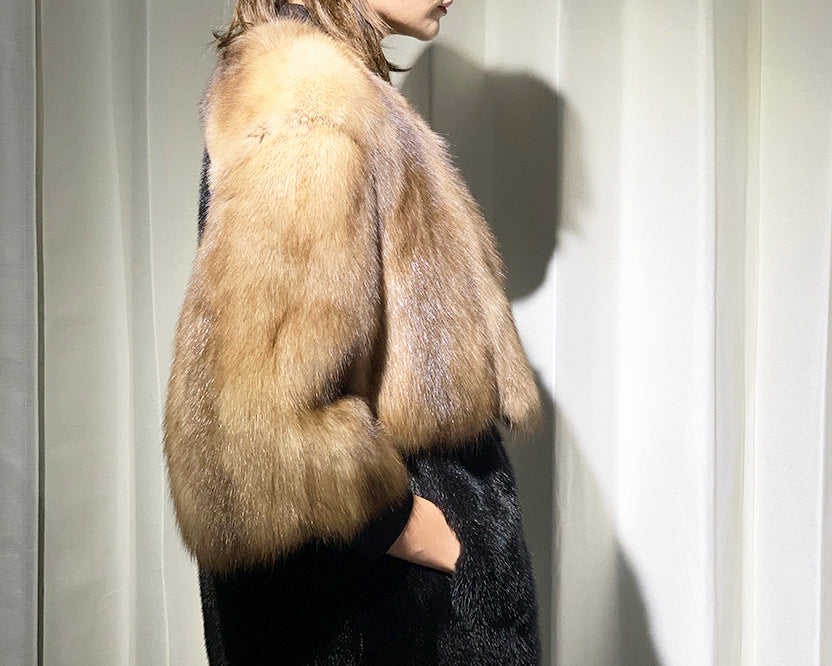 Nafa Mink with Russian Sable Coat