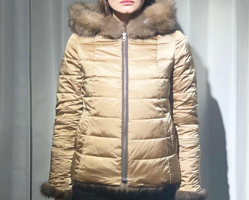 Russian Hooded Sable Jacket