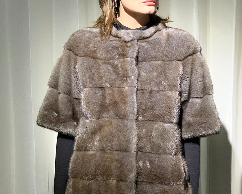 Danish Mink with Fox Detachable Hooded Coat
