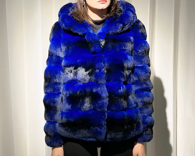 Chinchilla Coat with Cap
