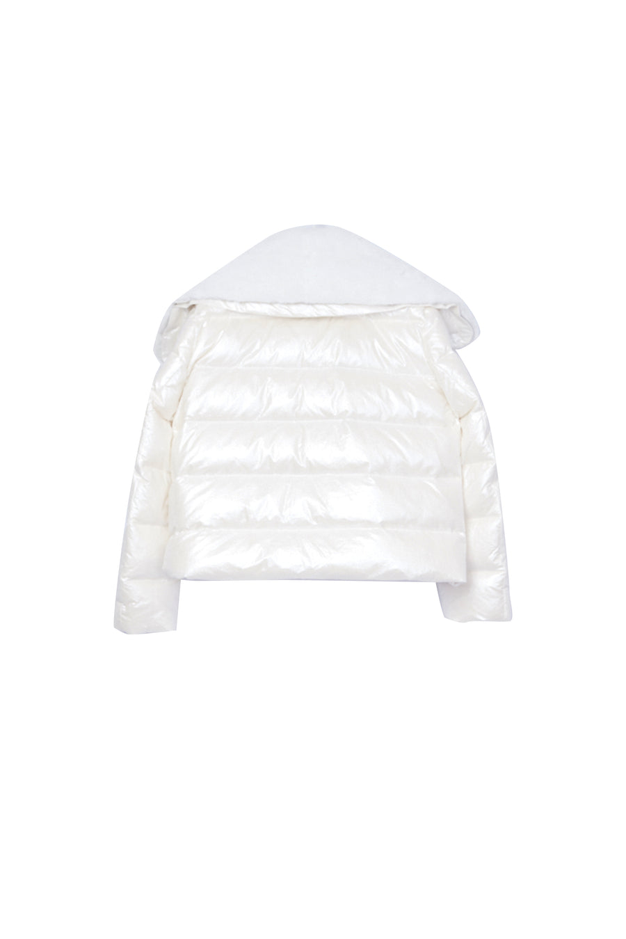 Down Jacket with Detachable Mink Collar