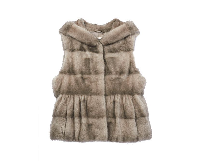 Mink Down Reversible Vest