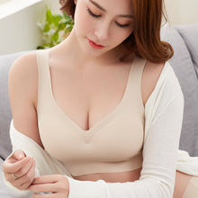 Load image into Gallery viewer, Sexy Women Bras Push Up Gather Bralette Seamless Bra Wire Free Soutien Gorge Femme Comfort Underwear Solid Color Vest Brassiere