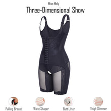 Load image into Gallery viewer, Miss Moly Full Body Shaper Modeling Belt Waist Trainer Butt Lifter Thigh Reducer Panties Tummy Control Push Up Shapewear Corset