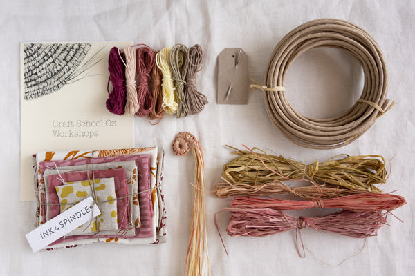 Textile Basket Kit & Online Workshop - Warm tones
