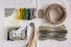 Textile Basket Kit & Online Workshop - Cool tones