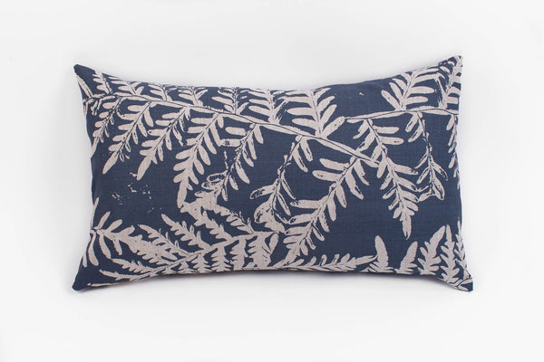Rectangle Cushion - Bracken in Bluestone